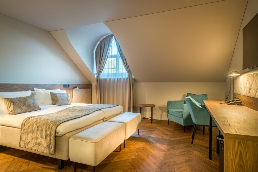 Classic double room at Hotel Vilnia