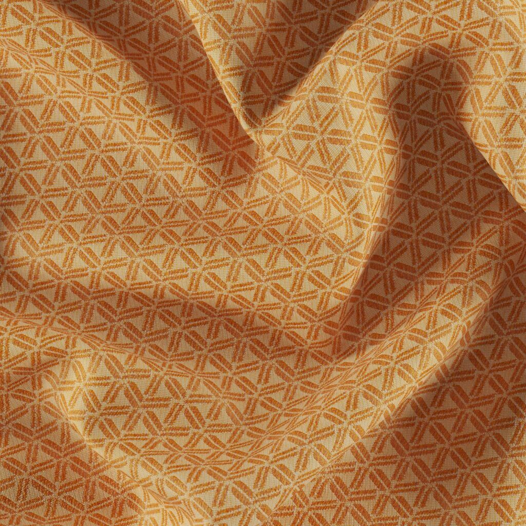 fibreguard patterned outdoor fabrics in chutney colour