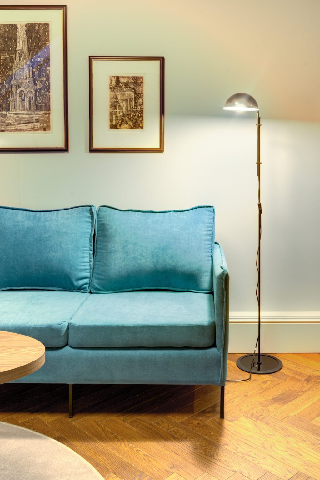 Hotel Vilnia - Blue Upholstered Couch